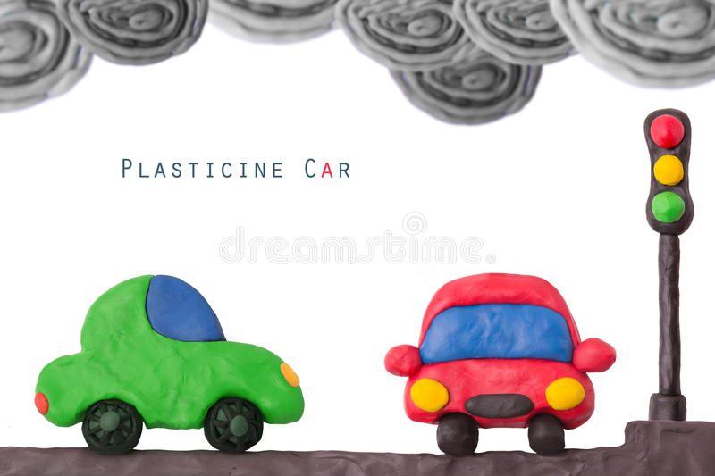 Plasticine car light stock photography