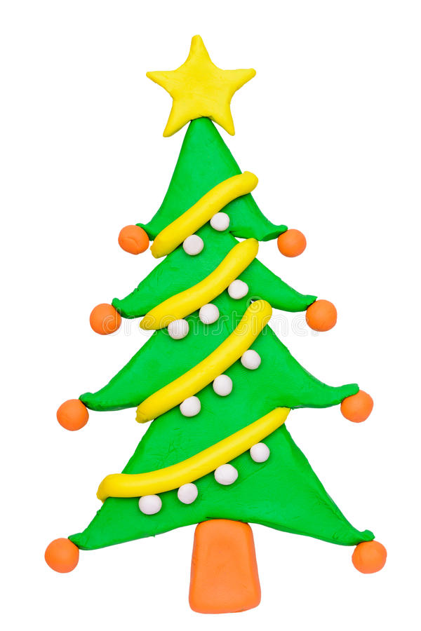 Free Plasticine Clay Christmas Tree Royalty Free Stock Image - 43142766