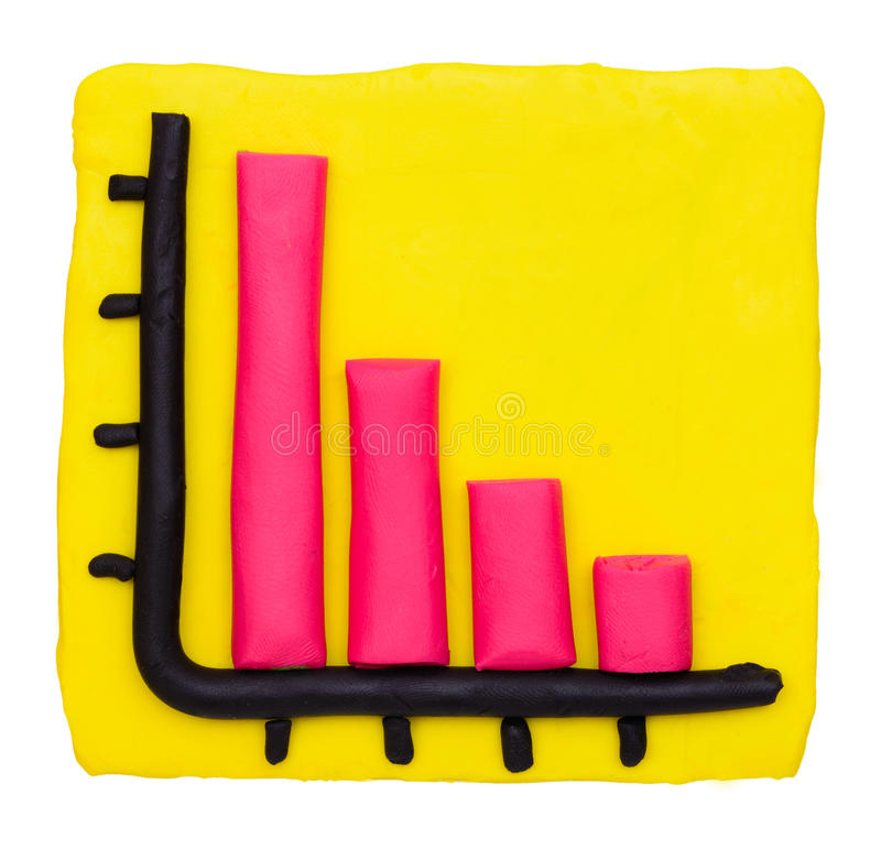 Free Plasticine Clay Loss Bar Graph Royalty Free Stock Photo - 43142805
