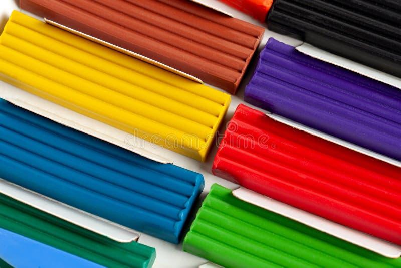 Plasticine determinado colorido para la costura Juguete para los niños desarrollo de niños y de adultos creatividad y autodesarro fotos de archivo