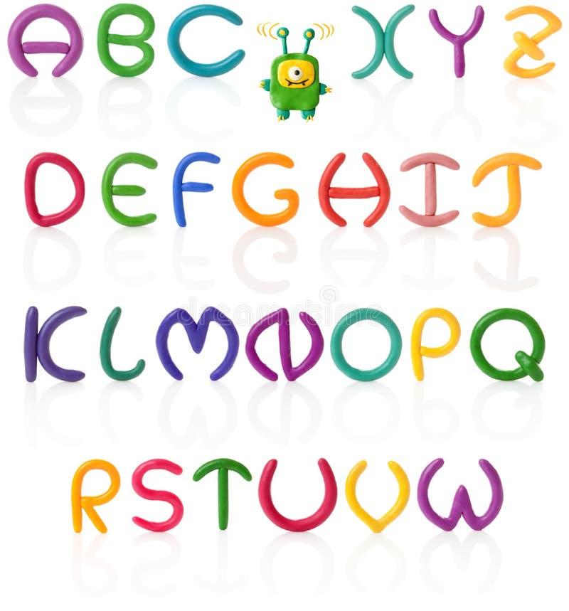 Plasticine do alfabeto #1. | Isolado imagem de stock royalty free