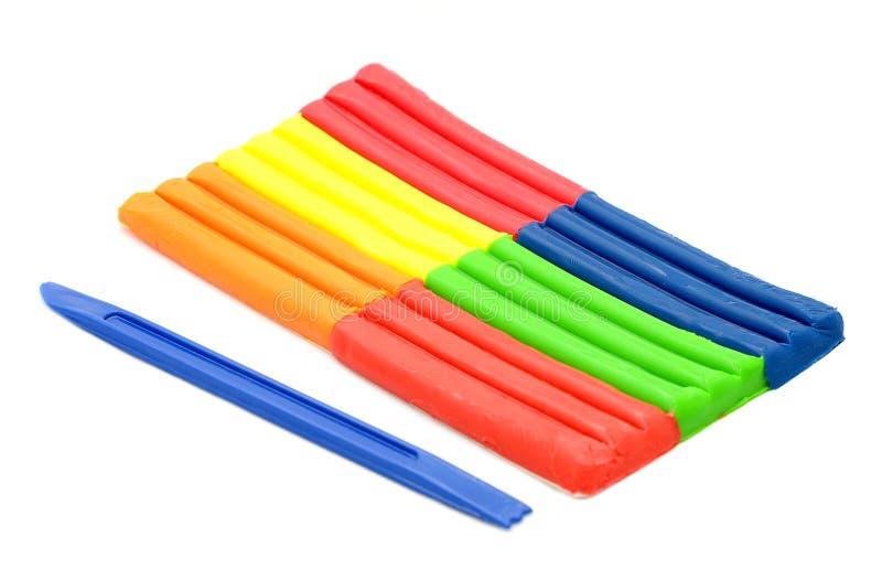 Plasticine fluorescente imagens de stock