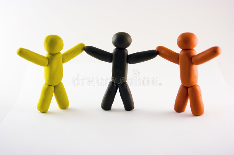 Plasticine men stock photos