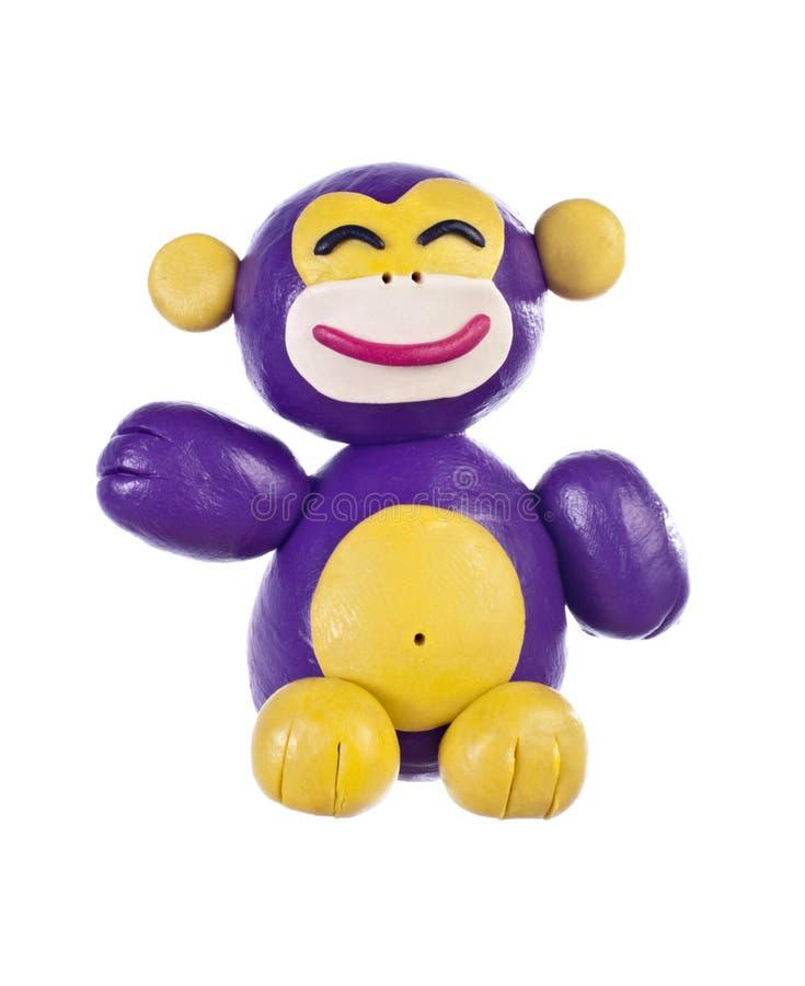 Plasticine monkey. Chinese horoscope royalty free stock images