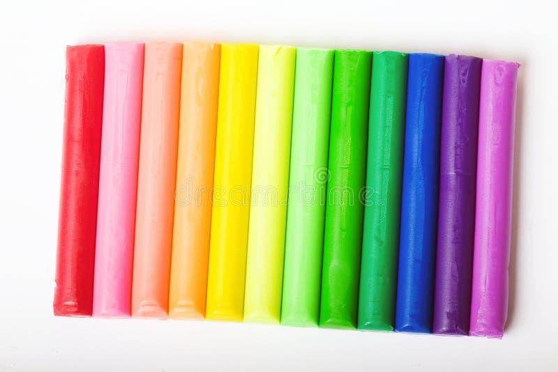 Plasticine multicolor fotografía de archivo