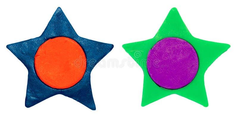 Plasticine star royalty free stock photo