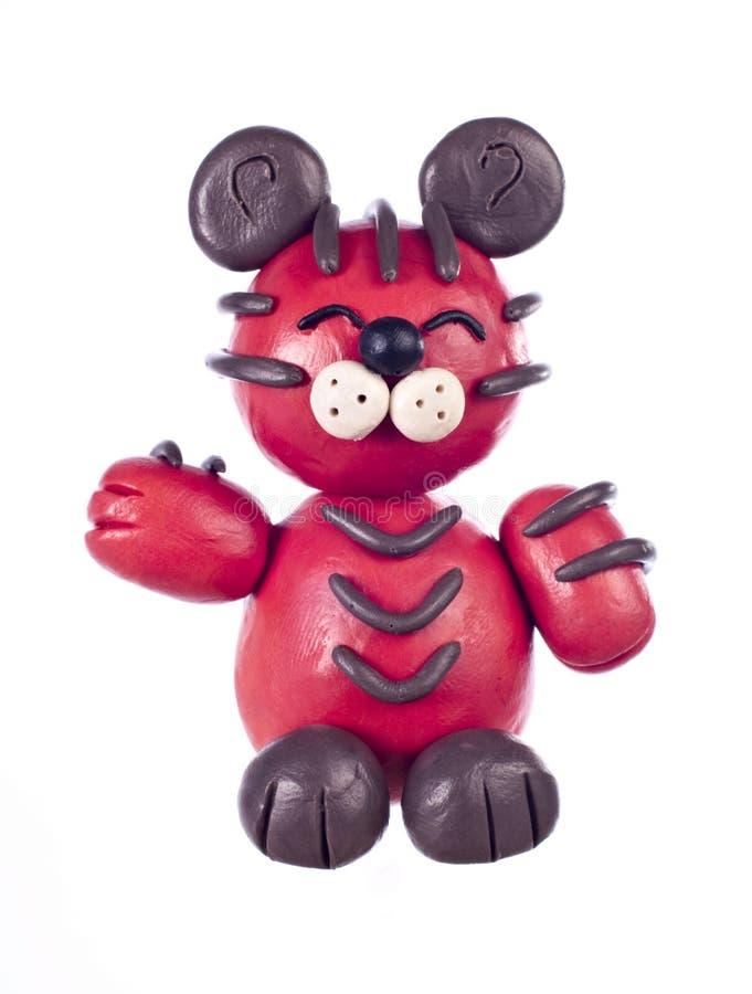 Plasticine tiger. Chinese horoscope stock image