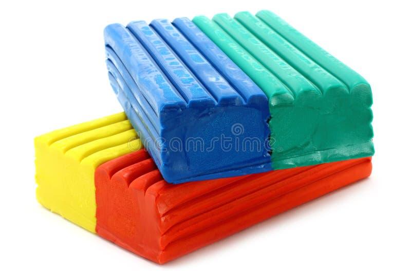 Plasticine van de kleur royalty-vrije stock afbeeldingen
