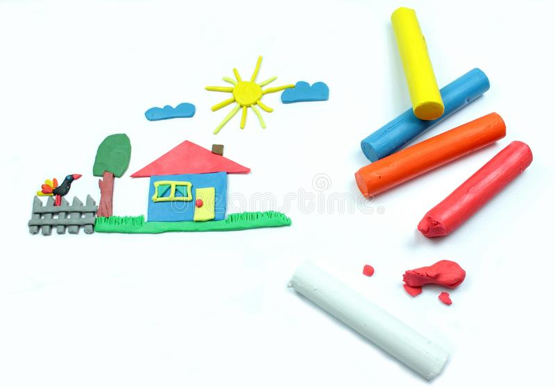 Plasticine work stock images