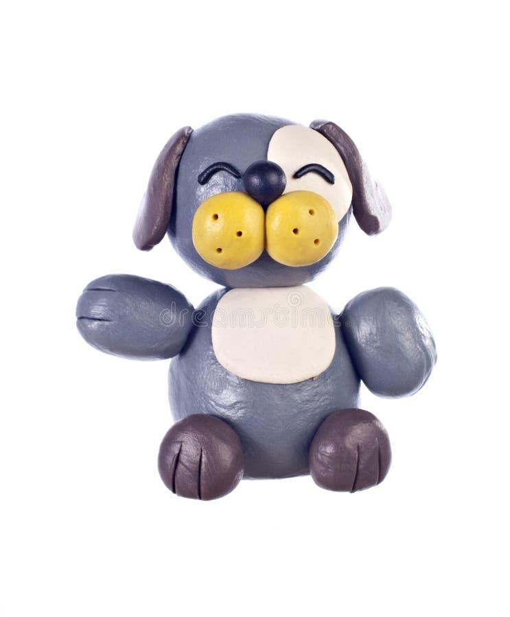 Plasticinehund. Chinesisches Horoskop lizenzfreie stockfotos