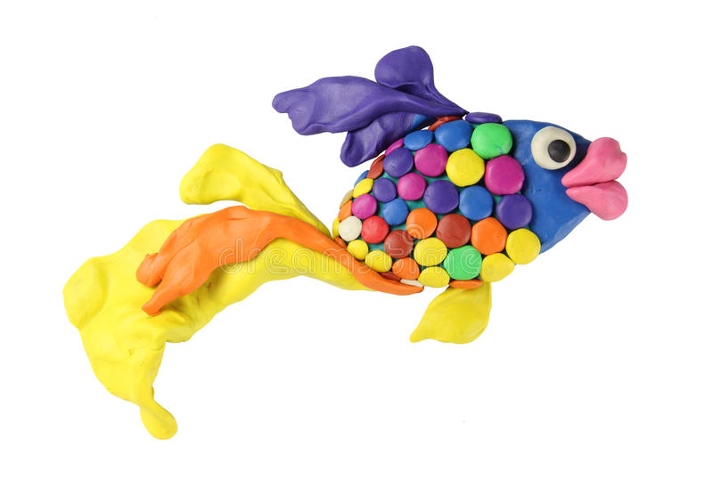 Download Plasticinekunstfische stock abbildung. Illustration von nachricht - 26361251