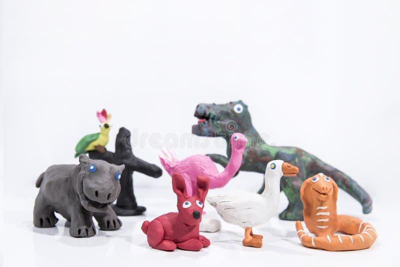Plasticinekunstwerk Met de hand gemaakte kameel Samenvatting ge?soleerde foto stock afbeeldingen
