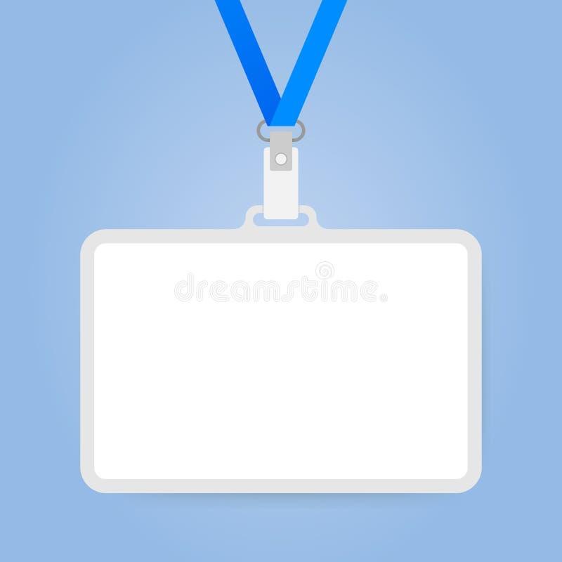 Plastik-Identifikations-Ausweis mit Halter für Namensschild Photorealistic Ausschnittskizze lizenzfreie abbildung