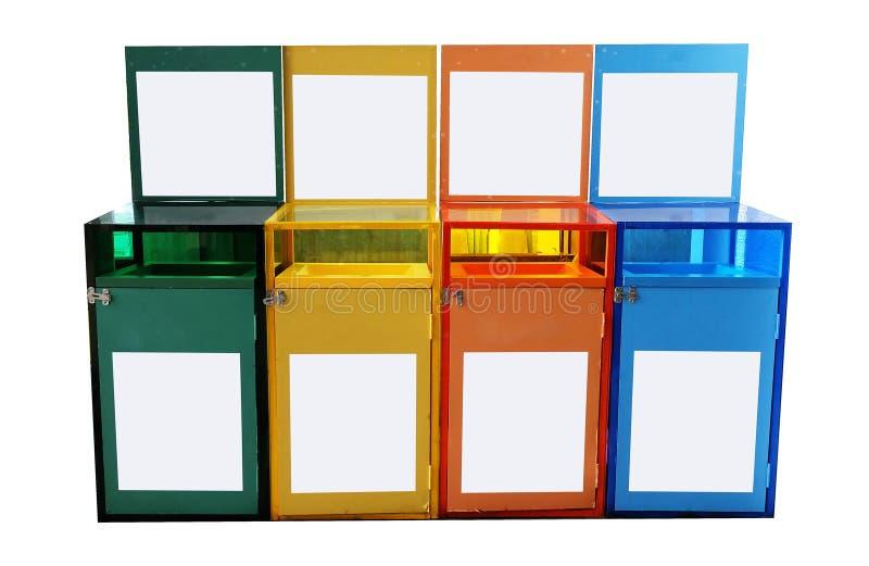 Plastik trashcan lizenzfreie stockfotografie