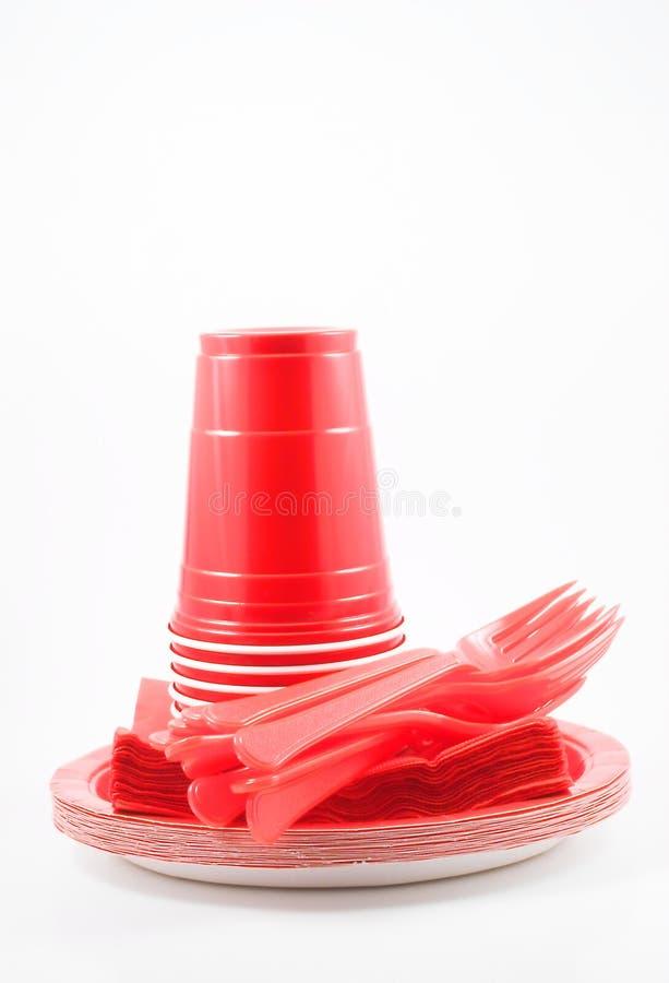 Plastikabendessen-Waren lizenzfreies stockbild