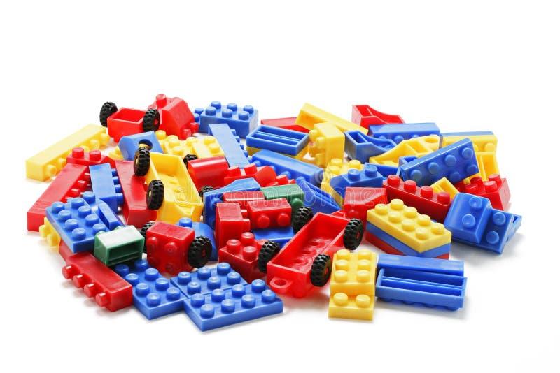 Plastikbausteine lizenzfreies stockfoto