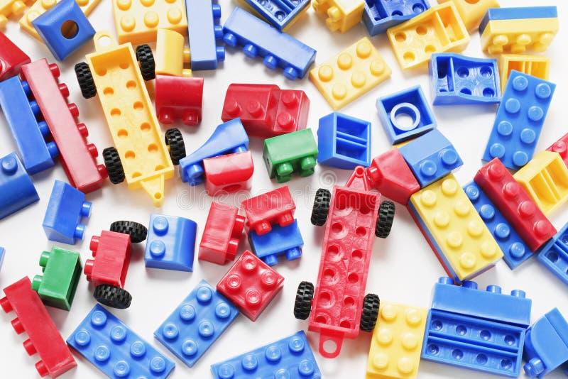 Plastikbausteine lizenzfreie stockfotos