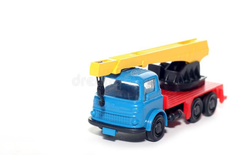Plastikbedford-Kran-LKW lizenzfreie stockbilder