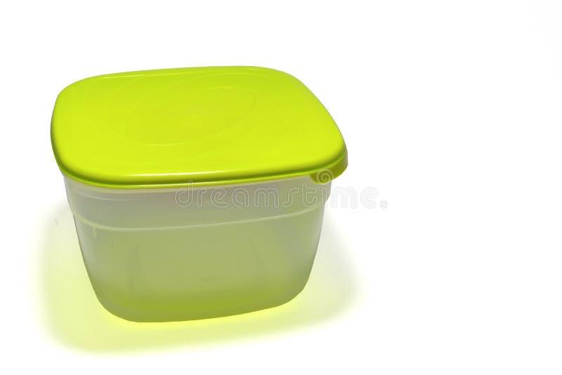 Plastikbehälter mit Kappe grüne schmutzige Unterseite Mit dem Abschneiden von PA lizenzfreie stockfotos