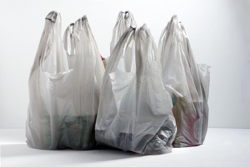 Plastikeinkaufstaschen stockfotos