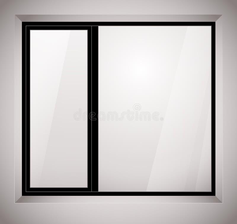 Offenes fenster gezeichnet  Plastikfenster Stockfotografie - Bild: 25031912