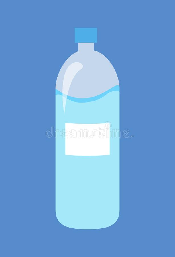 Plastikflasche der Wasser lokalisierten Illustration lizenzfreie abbildung