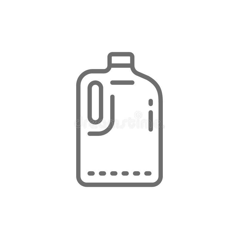 Plastikflasche, Kanisterlinie Ikone vektor abbildung