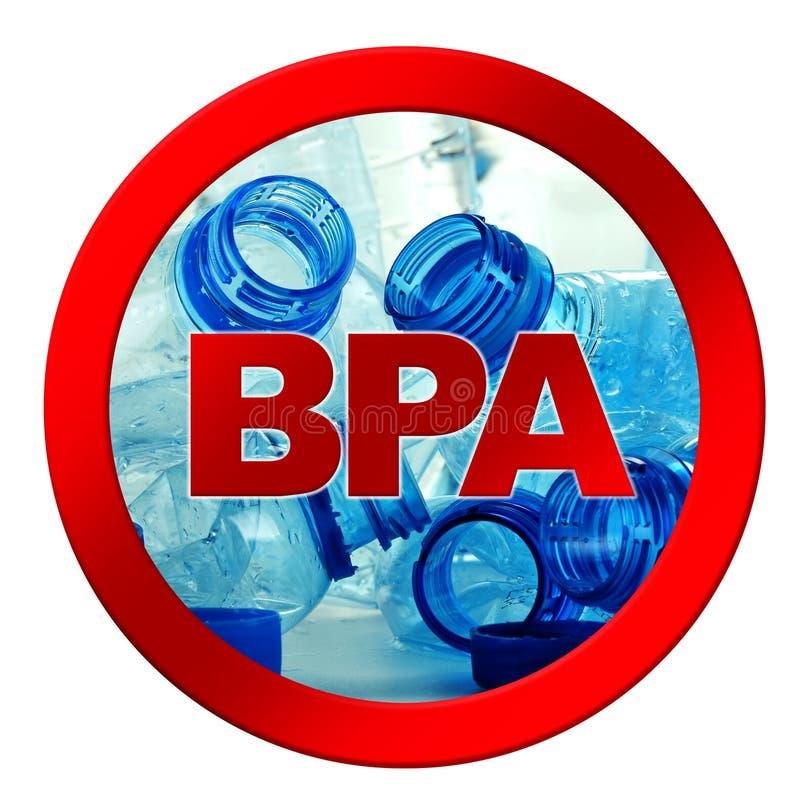 Plastikflasche Mineralwasser getrennt auf Weiß stockbilder