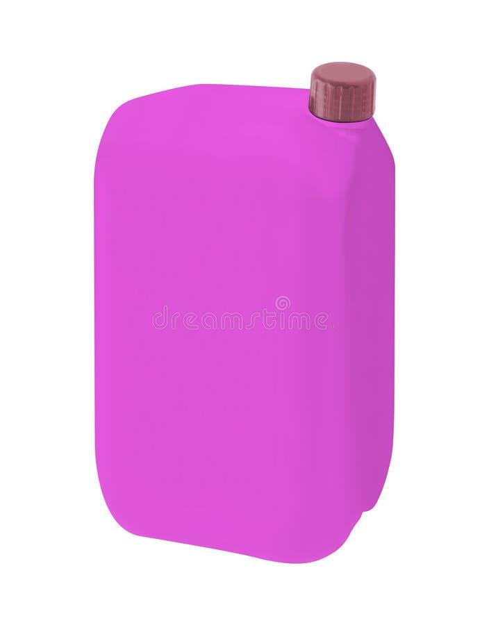 Plastikflasche mit Flüssigwaschmittel lizenzfreie abbildung