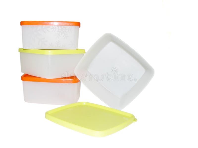 Plastikkasten vier lizenzfreies stockfoto