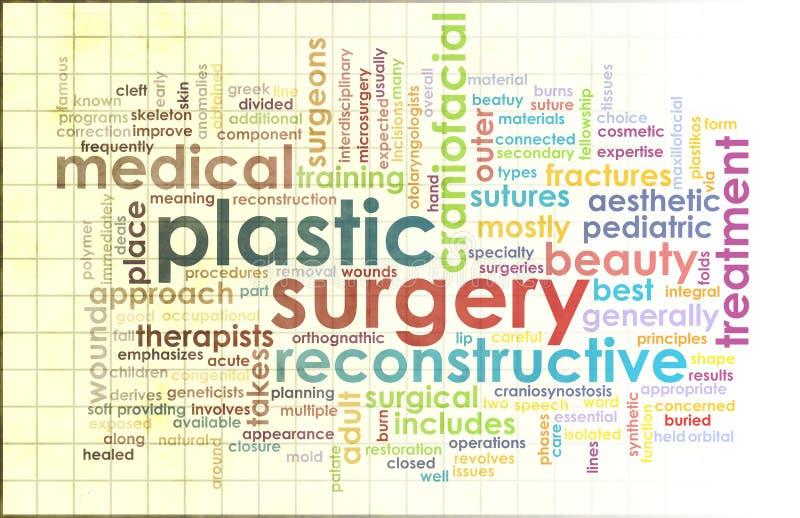 plastikkirurgi stock illustrationer