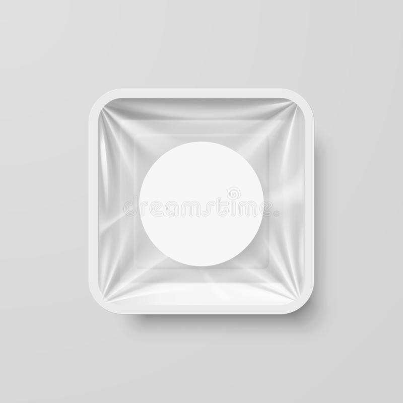 Plastiklebensmittelbehälter vektor abbildung