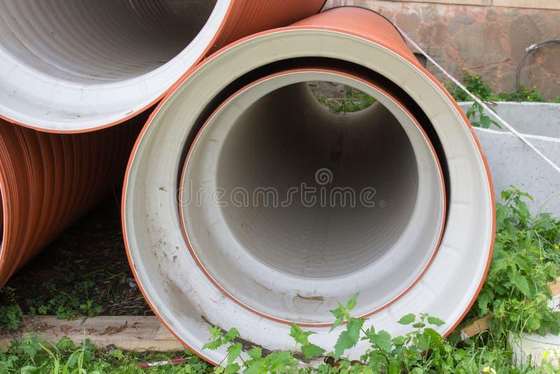 Plastikowa ściekowa drymba obraz stock