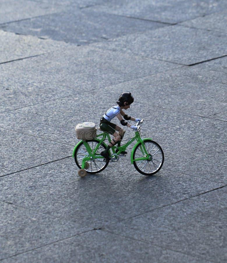 Plastikowa bicykl zabawka fotografia stock