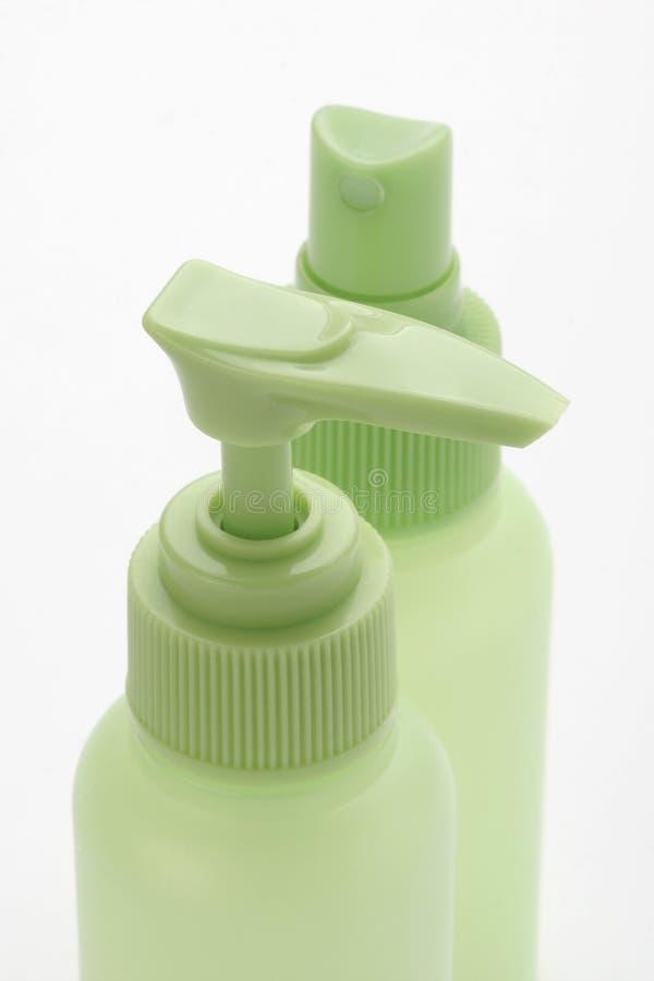plastikowa butelka kosmetycznym obraz stock