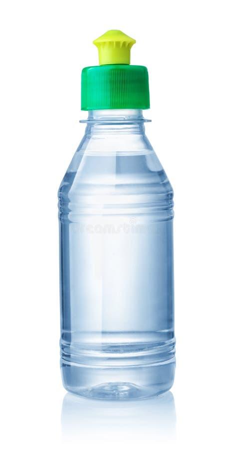 Plastikowa butelka organicznie rozpuszczalnik zdjęcia stock