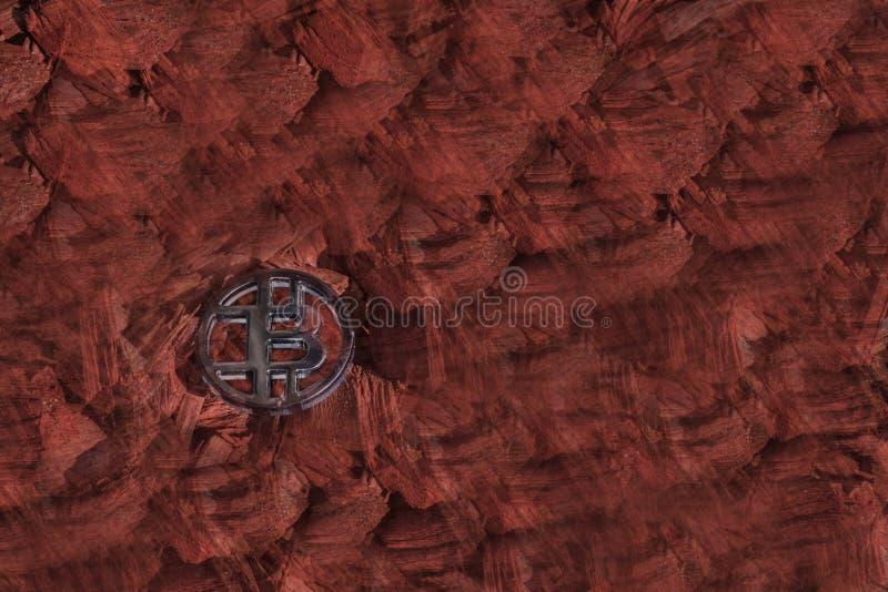 Plastikowa czerń kawałka moneta z czerwonym zamazanym tłem zdjęcia stock