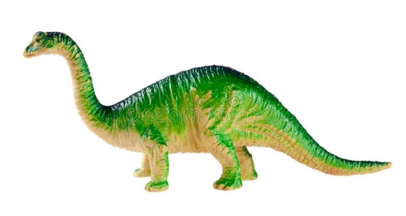 Plastikowa dinosaur zabawka odizolowywająca na białym tle obraz royalty free