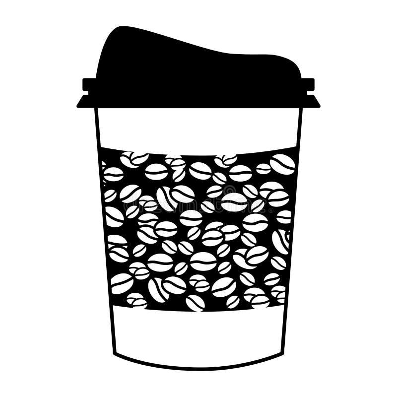 Plastikowa filiżanka odizolowywa na białej tło wektoru ilustracji ilustracji