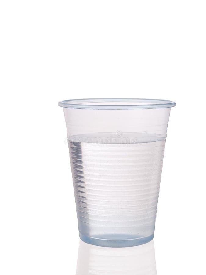 Plastikowa filiżanka woda obraz royalty free