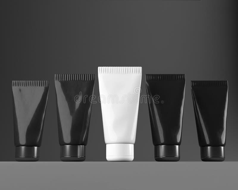 Plastikowa tubka dla nowego projektów kosmetyków creme ilustracja 3 d royalty ilustracja