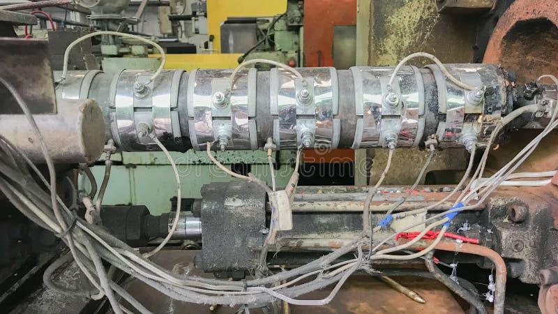 Plastikowa wtryskowa maszyna zdjęcie royalty free