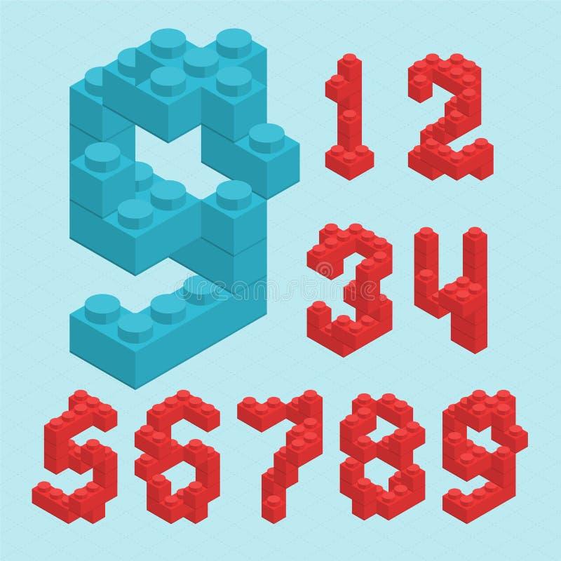 Plastikowe blok liczby ilustracji