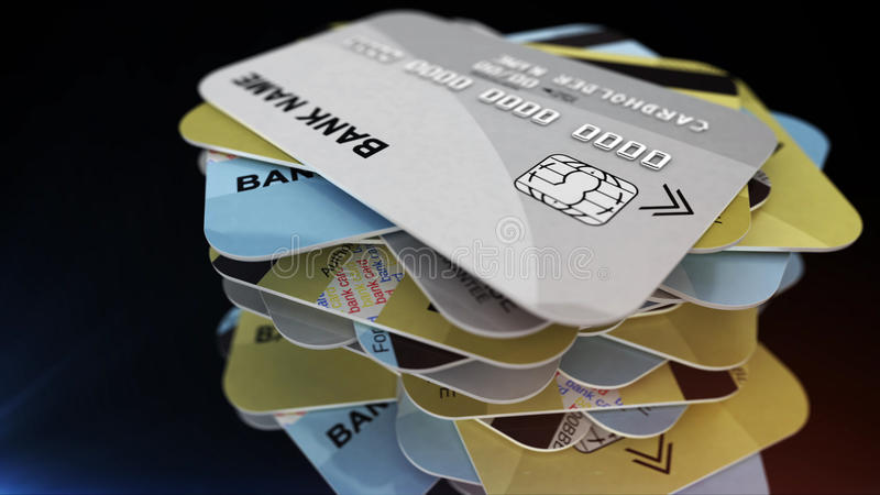 Plastikowe kredytowe karty ilustracja wektor