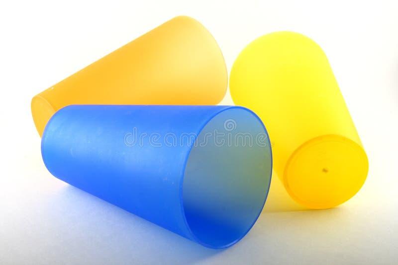 plastikowe kubki zdjęcie stock