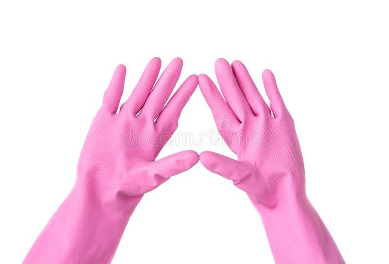 Plastikowe rękawiczki fotografia stock