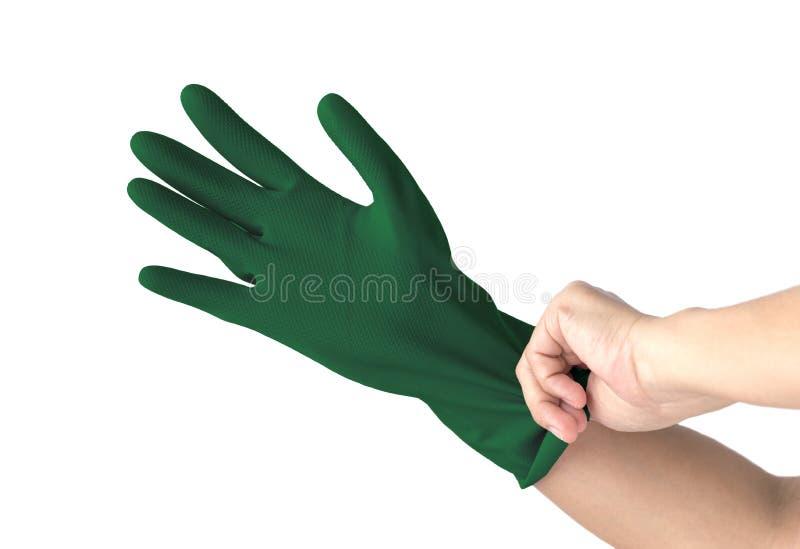 Plastikowe rękawiczki fotografia royalty free