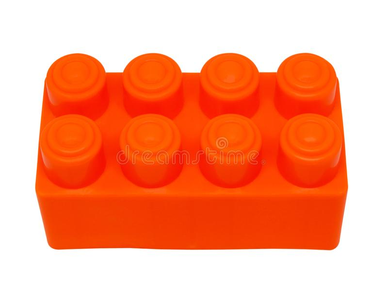 Plastikowi budynek zabawki bloki odizolowywający na białym tle z cl zdjęcia stock
