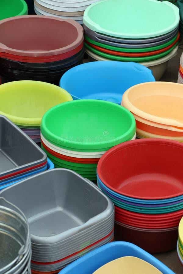 Plastikowi produkty dla domu zdjęcie stock