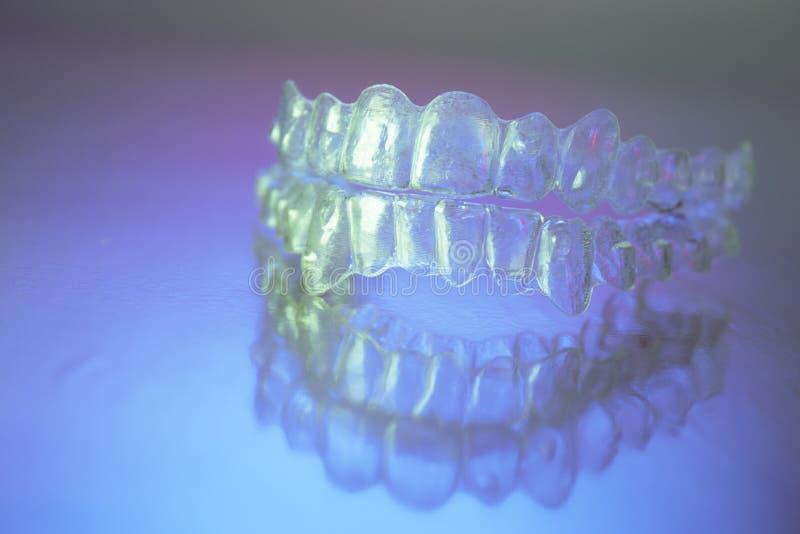 Plastikowi stomatologiczni orthodontics obrazy royalty free